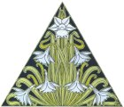 Art Nouveau flower triangle
